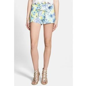 J.O.A Floral Tie Shorts